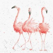 Wrendale Pink Ladies Flamingo Greeting Card